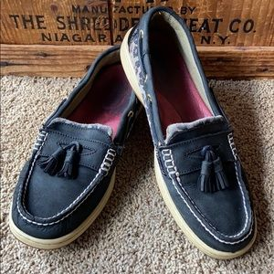 Sperry Topsiders - Black & Patent Leather